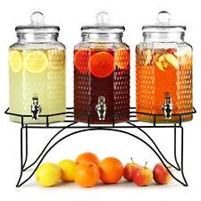 Del Sol Triple Drinks Dispenser with Stand 12ltr - Beverage Dispenser