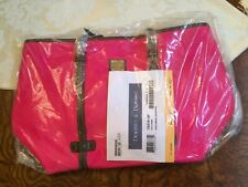 NWT Dooney & Bourke Nylon & Leather East/West Shopper Tote - Bright Pink