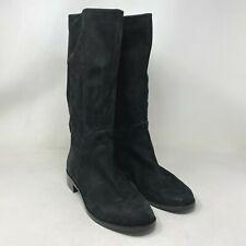 New Via Spiga Mid Calf Black Suede Boots size: 8.5