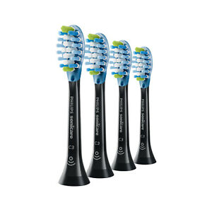 4x Sonicare DiamondClean C3 Premium Plaque Control Brush Heads | Black | w/o Box