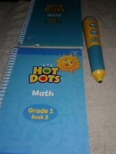 Learning Resources Hot Dots Math Grade 1 Book2, Grade 2 Book1 Works