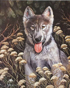 """Indian Wolf """" Hi, Lone Wolf Pup"""" Signed by Jacque 8 X 10 PRINT"""