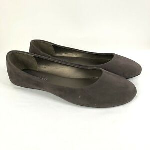 West Blvd Womens Ballet Flats Slip On Faux Suede Brown Basic Size 10