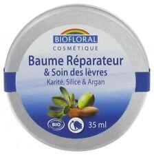 Baume Réparateur/Soin des lèvres Bio au Karité/Silice/Argan, 35ml – BIOFLORAL