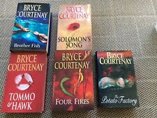 Bryce Courtenay Collection Of Novels. Hard Cover
