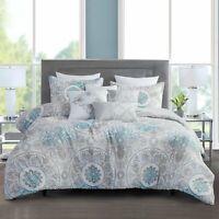 King Size Bedding Comforter Sets Bed In A Bag-7Pcs Microfiber Bedding Sets,Teal