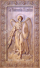 """20"""" Archangel Michael Icon Orthodox Wooden Carved  Medium. Christian Gift."""