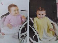 """Knitting Pattern Baby Boy Girl Cardigan and Matinee Coat 20"""" 6-12 months Vintage"""