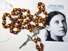 Gemma Umberta Galgani brown relic rosary for Students pharmacists tuberculosis