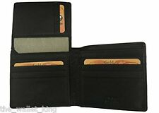 Spikes & Sparrow Deluxe Bi-Fold Buffalo Leather Wallet in Black