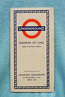 London Transport - Underground - Diagrams of Lines - 1957