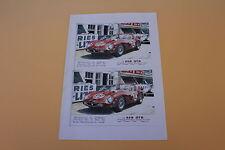 RZ Feuille A4 papier 250 GTO N°22 24 h Mans 1962 Château Heco 1/43