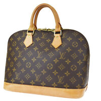Authentic LOUIS VUITTON LV Alma Hand Bag Monogram Leather Brown M51130 70MG916