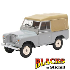 Oxford Diecast 1:43 Scale Land Rover Series 3/III SWB Canvas Mid Grey Model