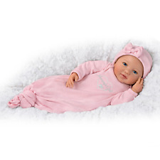 """Bradford Exchange Ping Lau """"Mommy's Girl"""" Baby Doll With Magnetic Pacifier"""