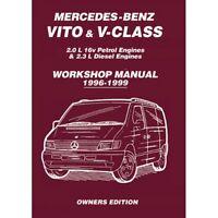 MERCEDES-BENZ VITO & V-Class 1996-1999 PROPIETARIO MANUAL DE TALLER mbv1wh NUEVO