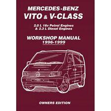 Mercedes-Benz Vito & V-Clase 1996-1999 propietarios taller Manual MBV1WH Nuevo