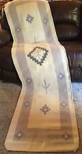 """SOUTHWESTERN  PASTELS WOVEN RUG RUNNER COUCH COVER WOOL BLEND 27"""" X 102"""" VGC"""