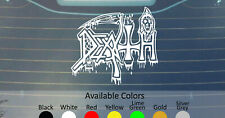 DEATH OLD LOGO VINYL DECAL STICKER CUSTOM SIZE AND COLOR