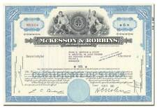 McKesson & Robbins, Incorporated Stock Certificate