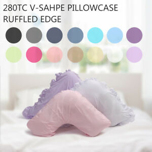 V Shape / Tri / Boomerang Ruffled Pillowcase 280TC ( Multicolor Choose From )