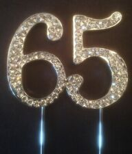 65TH BIRTHDAY SILVER CAKE TOPPER DECORATION SIXTY 65 FIVE FIFTH TH ANNIVERSARY
