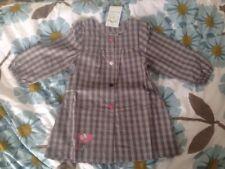 Vertbaudet Girls Grey Long Sleeves Dress/Apron/smock Age 3 Years EUR 94cm
