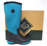 NEW Womens MUCK Arctic Adventure Boots Black/Harbor Blue W117  ss
