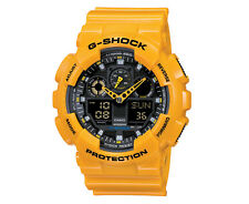 Casio G-SHOCK GA100A-9A XL Standard Analog-Digital Yellow Resin 200m Men's Watch