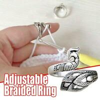 Ring Knitting Tools Finger Wear Thimble Yarn Adjustable Ring Sewing Tool Best AA