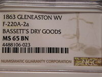 Civil war token Glen Easton, West Virginia