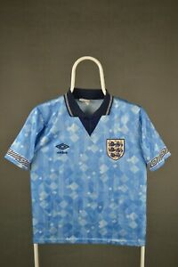 England Football Shirt Blue 1990 Genuine Vintage Umbro Third Jersey Children S