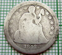 UNITED STATES 1842 O DIME - 10 CENTS, SEATED LIBERTY, NEW ORLEANS MINT, SILVER