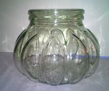 LARGE GLASS JAR with Bubbles for Decor, Fish Bowl, Candle Holder, Collections