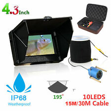 1200TVL 4.3in HD LCD Underwater Fishing Camera Fish Finder Video 10X LED 15/30M