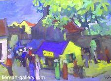 Orig paper painting Vuong La  b1959 - 2008  grad1980   & Paintings cheaper