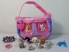 MEG 2008 PUPPY IN MY POCKET SET w/ HAND BAG ACCESSORIES & 9 PUPPIES UNUSED