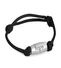 Relay for Life Cancer Awareness Hope Adjustable Black Nylon Bracelet New