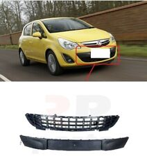 FOR VAUXHALL OPEL CORSA D 11-14 FRONT LOWER CENTER BUMPER GRILLE + MOLDING