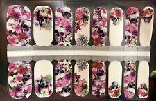 Color Nail Polish Strips,16ct. Floral Skulls 3 . Please Read Description Below