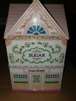 1990 THE LENOX VILLAGE ''THE SWEET SHOPPE'' SUGAR CANISTER small chip in front