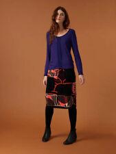 New BNWT White Stuff Mulberry Red Lumie Velvet A Line Skirt UK 18
