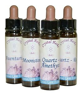 10ml Individual Crystal / Gem Essence - Over 200 uniques essences to choose from