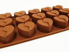 15 corazón roto Silicona Chocolate Molde Decoración Artesanía Flexible Sugarcraft