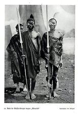 "Massai-Krieger tragen ""Monokel"" *  Bilddokument um 1938"
