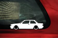 2x LOW BMW e30 320i / 325i,325 / 318is outline silhouette stickers, Decals