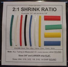 "1/2"" WHITE 10' Heat Shrink Tubing - Shipping Discount"