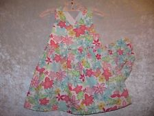 """Gymboree """"Butterflies"""" Butterfly & Floral Print Sundress w/Cover, 12-18 mos."""