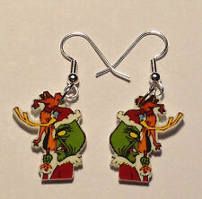 Grinch Max The Dog Earrings Christmas Charm