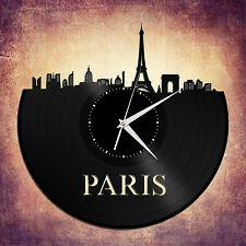 Paris Skyline Vinyl Wall Clock Cityscape Art Ideal for Bedroom Decor Decorative